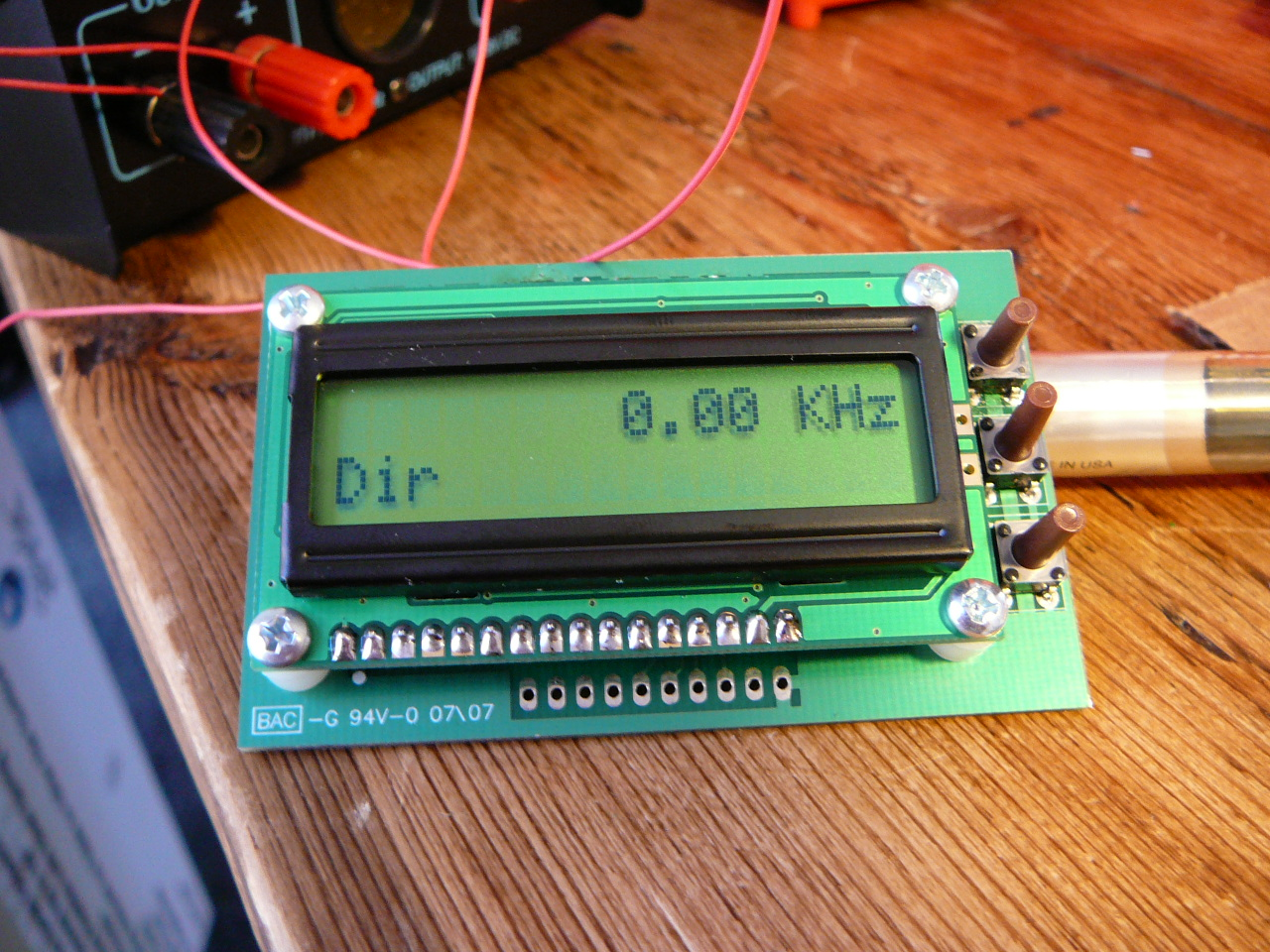 Fcc 1 Assembled Brainwagon Pic16f84 Circuit For Lcd Nokia Frequency Counter