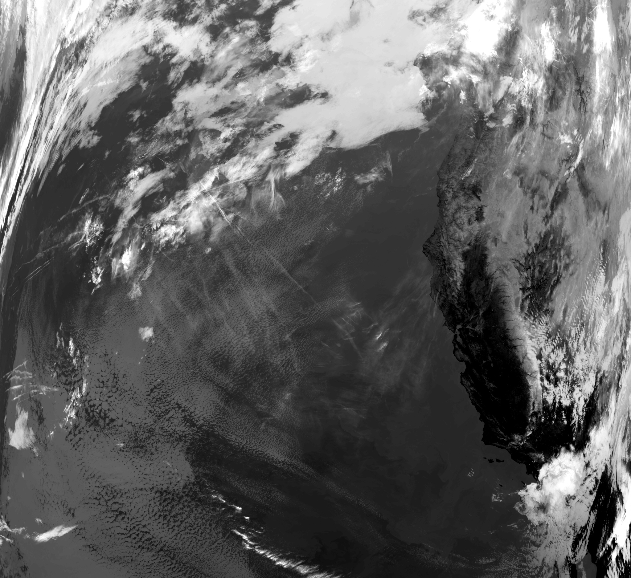 View of earth, from NOAA 18