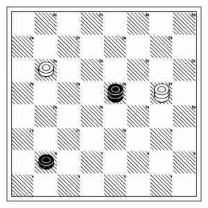 From Derek Oldbury, Diagram 17.  White to move, and is lost...