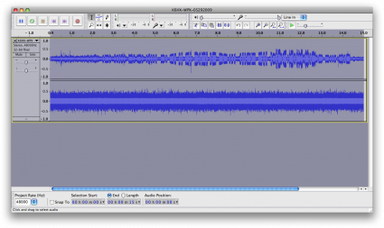 Audio File, normalized, viewed in Audacity