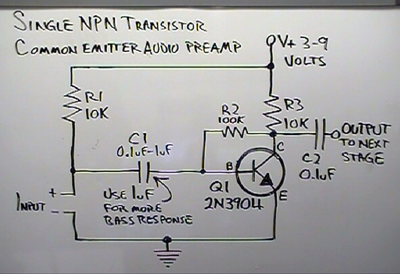 Brainwagon 187 More On Dino S Simple Common Emitter Amplifier