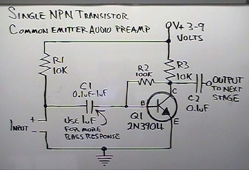More On Dino S Simple Common Emitter Amplifier Brainwagon