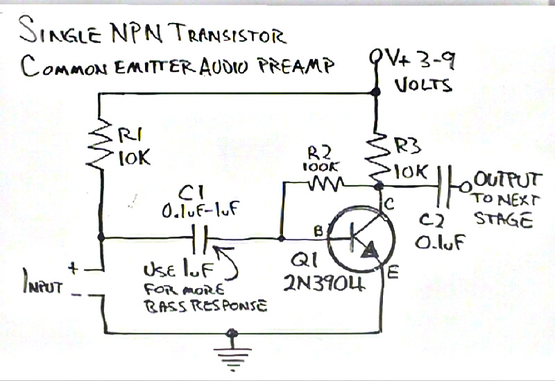 more on dino u2019s simple common emitter amplifier u2026  u2013 brainwagon