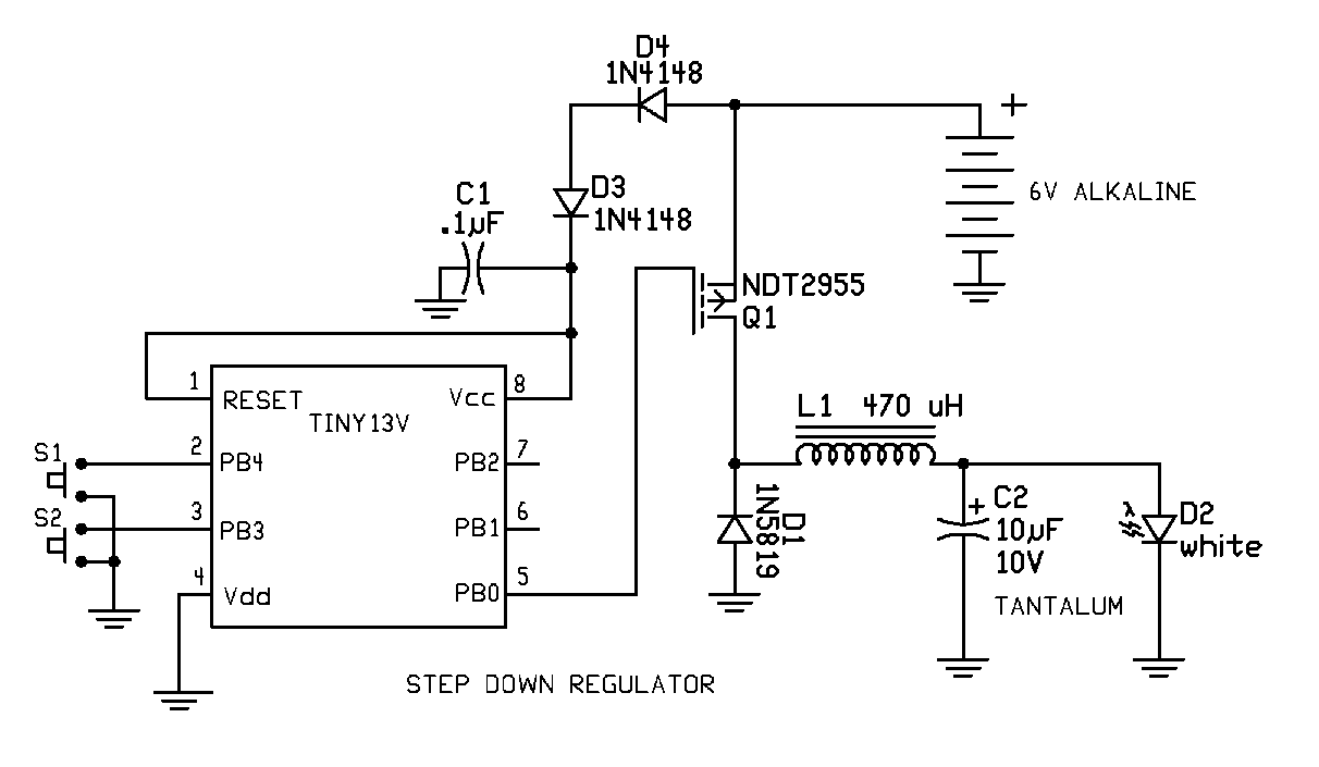 Kd1jv On Boost And Buck Converters Implemented With An Attiny13v Converter Design Pretty Simple