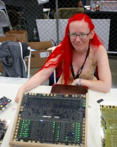 Lenore shows off the Monster 6502